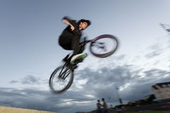 BMX stunts at the street Stock Images