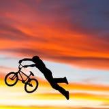 BMX Superman Illustration Stock Photo