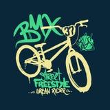 BMX t-shirt Graphics. Extreme street style. Royalty Free Stock Photo