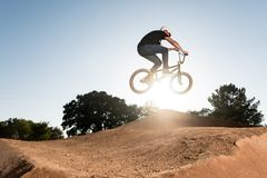 BMX Bike Stunt Table Top Royalty Free Stock Image