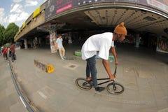 BMX teenage rider Royalty Free Stock Image