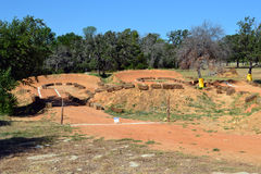 BMX track. A Bicycle Motocross (BMX) track in Texas Royalty Free Stock Photography