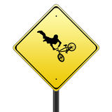 Bmx traffic sign Stock Photos