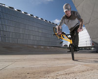Bmx training Royalty Free Stock Image