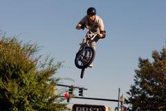 BMX Vertikale 360 Stockfotografie