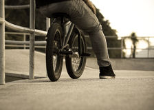 BMX in vintage style stock images