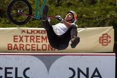 BMX-Vrij slag Extreem Barcelona 2014 Stock Afbeeldingen