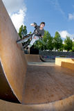 BMX Wall Ride Royalty Free Stock Images