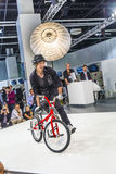 BMX world champion Takahiro Ikeda performs stunts at  Photokina Royalty Free Stock Image