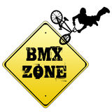 BMX zone sign Stock Photo