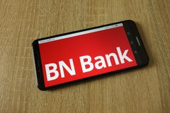 BN banka ASA logo wystawiający na smartphone zdjęcie stock