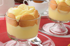 Bnaana pudding with cookies Royalty Free Stock Photography