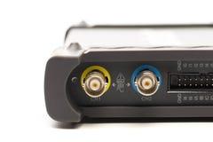 BNC-inputschakelaar van digitaal signaaloscilloscoop royalty-vrije stock afbeelding