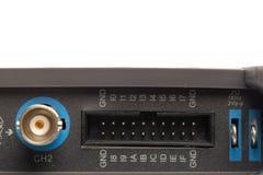 BNC-inputschakelaar van digitaal signaaloscilloscoop stock afbeelding