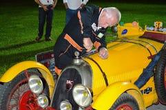 BNC 527 Monza 1927, på 1000 mil lopp royaltyfria foton