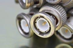 BNC-Verbindungsstück-Koaxialkabel Stockbild