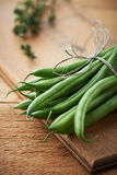 Bündel grüne Bohnen Stockbild