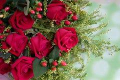 Bündel rote Rosen Stockfoto