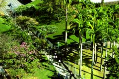 BNDES budynku ogród, Rio De Janeiro zdjęcia stock