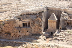 Bnei Hazir & túmulos o Vale de Kidron de Zechariah imagens de stock royalty free