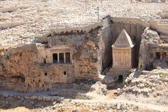 Bnei Hazir y tumbas Kidron Valley de Zechariah imágenes de archivo libres de regalías