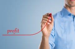 Bénéfice croissant d'homme d'affaires Photo libre de droits