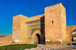 Bni Mhammed brama w Meknes, Maroko Zdjęcie Royalty Free
