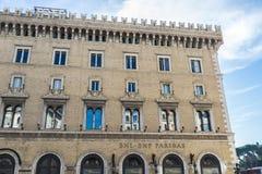 BNL BNP Paribas bank branch in Rome, Italy Royalty Free Stock Photography