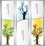 Bnners van bomen Stock Afbeelding