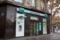 BNP Pariba bank Royalty Free Stock Photo