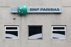 BNP Paribas bank building Stock Images
