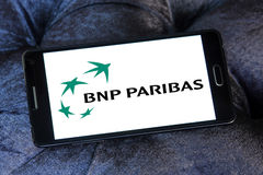 Bnp paribas bank logo Stock Image