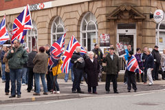 BNP Protestors op de straat Stock Fotografie
