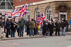 BNP Protestors op de straat Stock Afbeelding