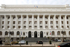 BNR - η ρουμανική National Bank Στοκ Φωτογραφίες