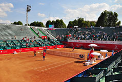 BNR Arenas. The central arena of BNR Arenas,Bucharest, 35 Dr. Lister Street stock image