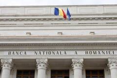 BNR - National Bank rumeno Fotografie Stock Libere da Diritti