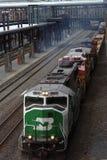 bnsf κινητήριος σιδηρόδρομο&si Στοκ Εικόνες