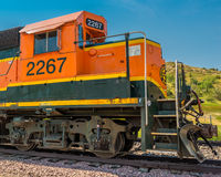 BNSF Diesel Locomotive 2267. Idling in Medora North Dakota royalty free stock image