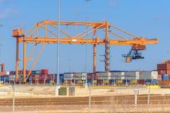 BNSF Intermodal train yard crane Royalty Free Stock Photo