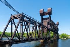 BNSF-järnväghelgon Croix River Crossing Bridge arkivfoton