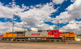 BNSF line up & facilities. Havre MT photos of BNSF line up & facilities Stock Images
