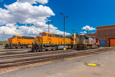 BNSF line up & facilities. Havre MT photos of BNSF line up & facilities Royalty Free Stock Photography