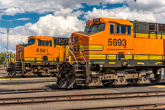 BNSF line up & facilities. Havre MT photos of BNSF line up & facilities Stock Photos