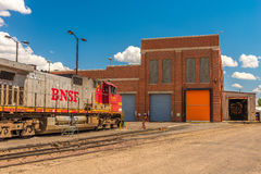 BNSF line up. Havre MT photos of BNSF line up Royalty Free Stock Photos