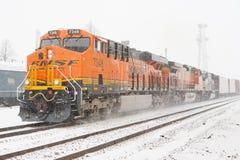 BNSF pociąg Obrazy Royalty Free
