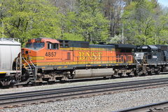 BNSF Railroad Locomotive 4857 Royalty Free Stock Photos