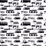 Bnw autobusu wzór Zdjęcia Royalty Free