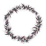 Boże Narodzenia obramiają z liśćmi i jagodą ilustracja wektor