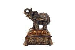 Boîte à bijoux avec un éléphant Images libres de droits